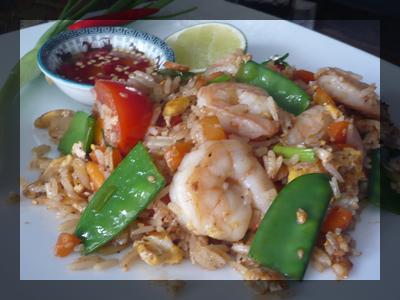 Riz Sauté aux Crevettes
